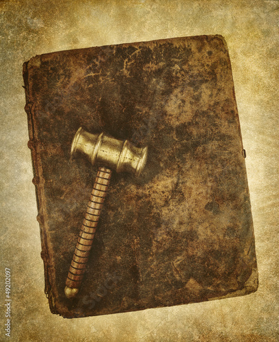 old gavel law book