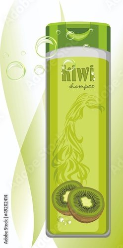 Kiwi shampoo bottle