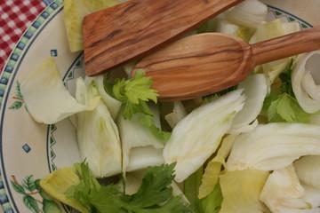 Salade diététique : Fenouil Endive Céleri