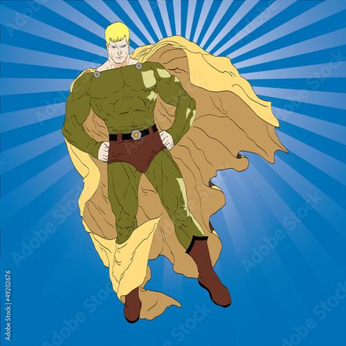 Deurstickers Superheroes Posing Superhero