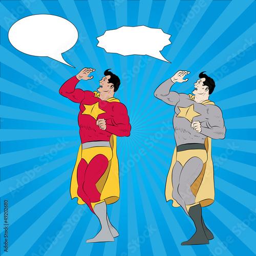 Deurstickers Superheroes Calling Superhero
