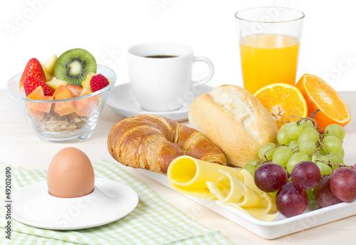 Leinwandbild Motiv Frühstücksbuffet