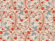 Seamless valentines decor pattern with flowers