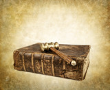 vintage gavel and book