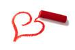 dessin de coeura la craie rouge