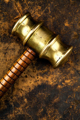 close up gavel
