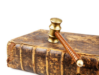 old law book and gavel