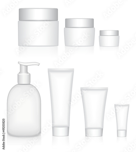 Beauty products packaging collection.