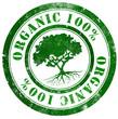 Organic 100% stamp