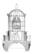 Top Lighthouse : Lantern (Plan en Coupe) - 19th century