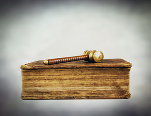law book and hammer