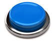 Blue blank button isolated on white background