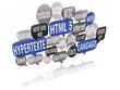 nuage de mots bulles 3d : html 5