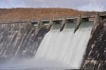 Dam over Zadorra river, Basque Country (Spain)
