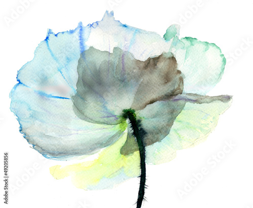 Stylized flower illustration © Regina Jersova