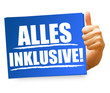 Alles inklusive! Button, Icon