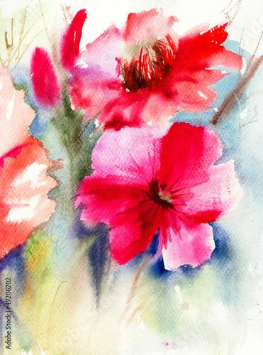Colorful Red flowers © Regina Jersova