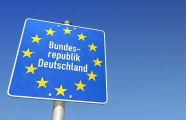 Zollschild Bundesrepublik Deutschland