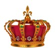 Golden Royal Crown Isolated on White. - 49207204