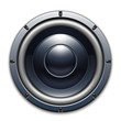 Audio speaker icon isolated on white background