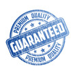 Premium quality guaranteed rubber stamp on white background