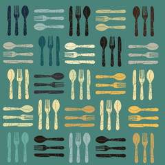 A cutlery pattern background