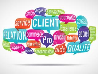nuage de mots bulles : gestion relation client