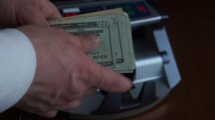 Account cash bills with account machine