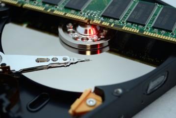 ハードディスクとメモリー