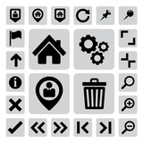 Internet and computer icons set. Illustration