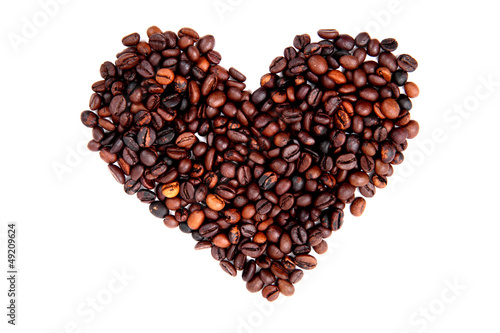 heart from the coffe beans