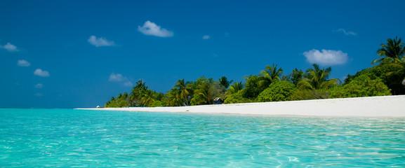 Strand Panorama auf den Malediven