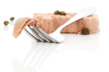 Luxurious tuna fish background.