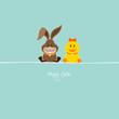 Bunny & Duck Retro