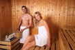 couple in a sauna - wellness spa