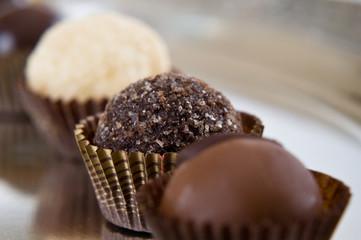 prelibate praline di cioccolato