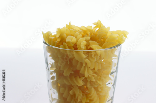 Pasta in glass