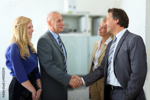 Erfolgreiche Geschäftsbeziehung