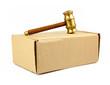 auction hammer on box