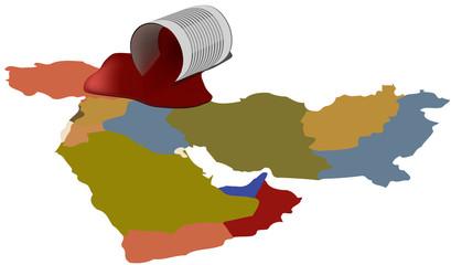 medio oriente rosso
