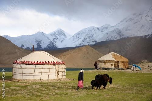 Yaks und Jurten in Kirgisien