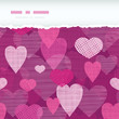 vector fabric hearts romantic torn horizontal seamless