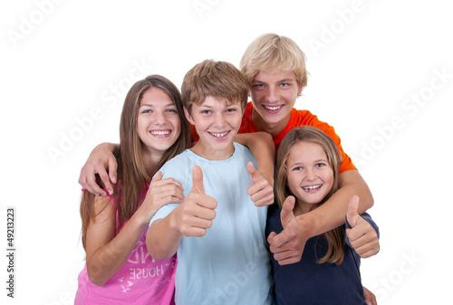 Teenager in der Gruppe