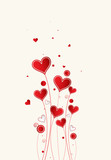 Love background with hearts valentine day card