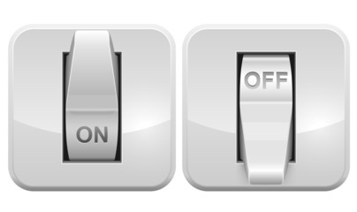 Electric switch web vector icon
