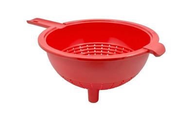 Red empty colander