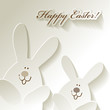 Happy Easter Papier Hasen Hares Rabbits Bunnies
