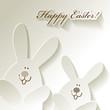 Happy Easter Papier Hasen Hares Rabbits Bunnies