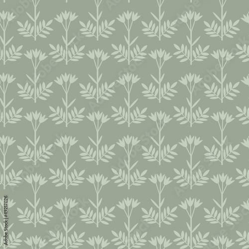 Seamless floral grey decorative pattern