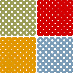 Colorful polka dot backgrounds